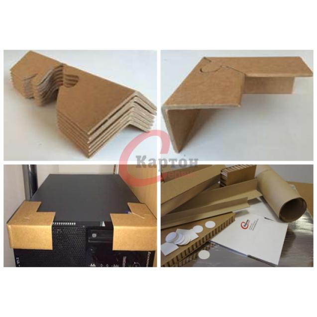 Угловой картонный профиль-пазл